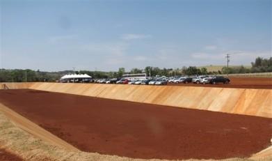 Vista do complexo da estação de tratamento de esgoto sanitário municipal Guavirá. na sua inaguração em setembro de 2014. Imagem: Acervo O Presente - FOTO 2 -