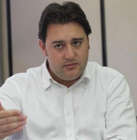 Deputado estadual Ratinho Júnior que esteve em Marechal Cândido Rondon, em maio de 2018.  Imagem: Acervo Portal Foz - FOTO 7 -