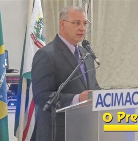 Empresário Gerson Froehner eleito presidente da ACIMACAR, 07 de abril de 2017.  Imagem: Acervo O Presente Digital -  Crédito: Joni Lang - FOTO 12 -