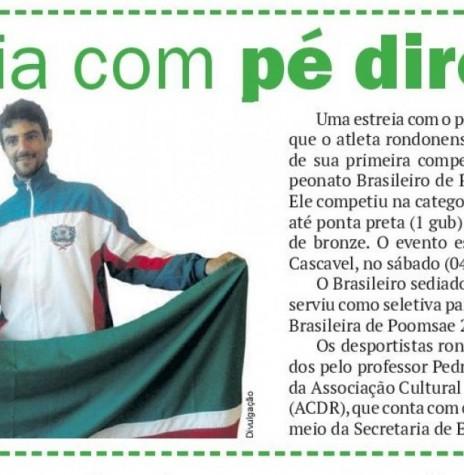 Atleta Júlio César medalhista de bronze junto com  o técnico Pedro Alencar.  Imagem: Acervo O Presidente - FOTO 7 -