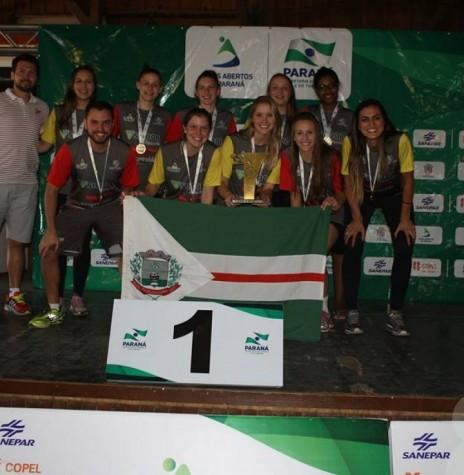 Equipe de volei feminino de Marechal Rondon que conquistou o título na fase final dos JAP's. - FOTO 5 -