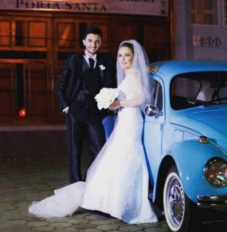 Jovens rondonenses Michele Andreia Siebert e Ivanildo Malicowski que se casaram em dezembro de 2016. Imagem: Acervo do casal - FOTO 5 -