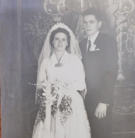 Jovens Sofia Grohmann e Arlindo Model que casaram em final de julho de 1962. Imagem: Acervo Adir Model - FOTO 5
