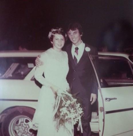 Jovens Liani Stein e Helio Bremm que se casaram em janeiro de 1982. Imagem: Acervo João Ricardo Stein Bremm - FOTO 2 -