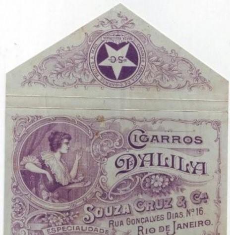 Dalila - uma das primeiras marcas de cigarros enrolados em papel produzidos no Brasil pela Souza Cruz.  Imagem: Acervo Jacques Broder Blog /professorarturreis.blogspot  - FOTO 4 -
