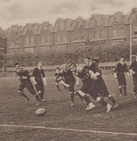 Jogo entre as equipes  da  Companhia de Gás e a São Paulo Railway considerada a primeira partida de futebol no Brasil. Imagem: Acervo FM Rural - FOTO 2 -