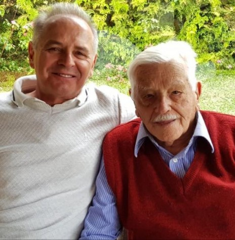 Pioneiro rondonense Arthur Winter com o filho Elio Edvino. Imagem:  Acervo pessoal - FOTO 10 -
