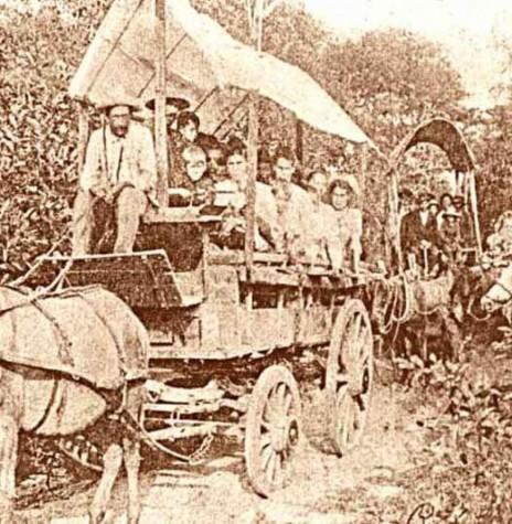 Imigrantes alemães levados para projeto de colonização. Imagem (publicação): Acervo Projeto Memória Rondonense. Crédito: Autor desconhecido - FOTO 2 -