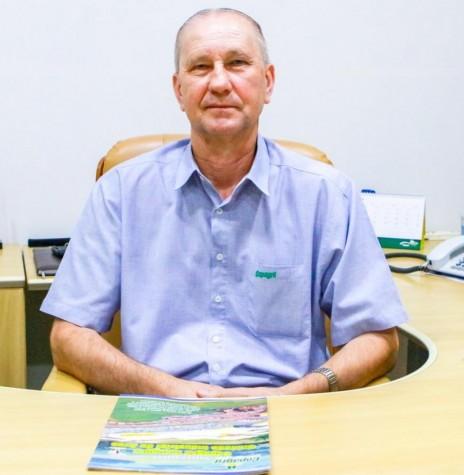 Ricardo Silvio Chapla, diretor-presidente da Copagril, que liderou a instalação da unidade industrial de Aves e permanecia no cargo por ocasião dos 15 anos de funcionamento.  Imagem: Acervo Comunicação Copagril - FOTO 12-