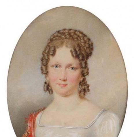 Princesa Carolina Josefa Leopoldina de Habsburgo-Lorena, imperatriz-consorte do Brasil. Imagem: Acervo Projeto Memória Rondonense - pintura de autor desconhecido - FOTO 2 -