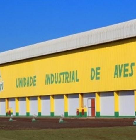 Unidade Industrial de Aves da Copagril,  às margens da rodovia PR 495, na cidade de Marechal Cândido Rondon.  O primeiro abate aconteceu no começo de abril de 2005. Imagem: Acervo Portal do Agronegócio - FOTO 5 -