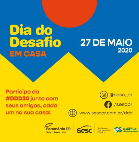 Banner alusivo ao Dia do Desafio 2020.  Imagem: Acervo Imprensa PM-MCR - FOTO 11 -