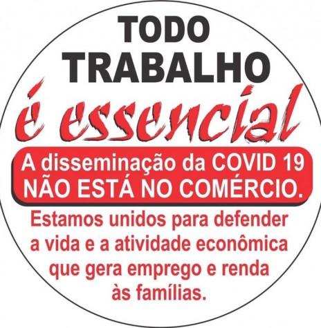 Banner de protesto contra o decreto governamental nº 4.942/20.  Imagem: Postada no Facebook  (colhido) - FOTO 18 -