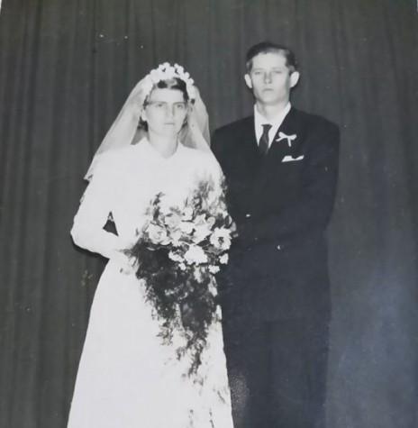 Noivos pioneiros rondonenses Elly Aline Engelmann e Lauro Dreyer que se casaram em junho de 1962. Imagem: Acervo Hedry Dreyer Campos - FOTO 1 -