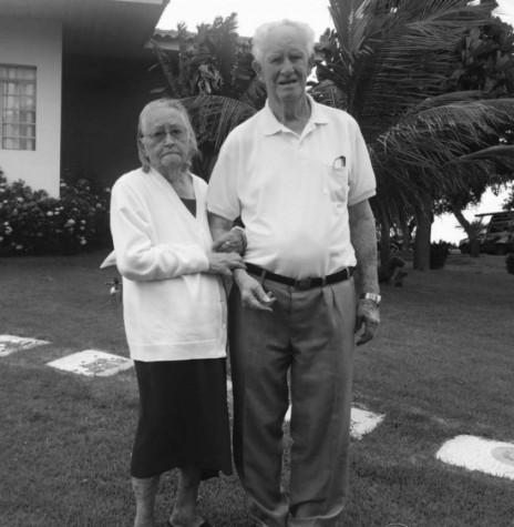 Pioneiro rondonense Rodolfo Tierling e esposa Hedwig, ele falecido em agosto de 2020. Imagem: Acervo Valdi Tierling - FOTO 12 -