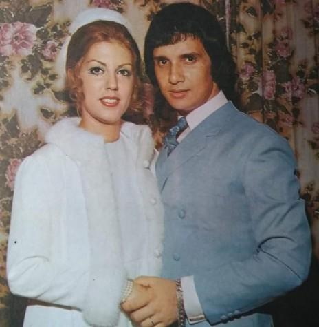 Cleonice Rossi e Roberto Carlos, no dia do casamento em Santa Cruz de La Sierra, Bolívia, em maio de 1968. Imagem: Acervo Projeto Memória Rondonense - FOTO 2 -