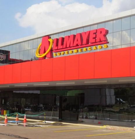 Fachada externa do supermercado da rede Allmayer Supermercados, instalado no Jardim Líder, em Marechal Cândido Rondon e inagurado em setembro de 2020. Imagem: Acervo O Presente - FOTO 21 -