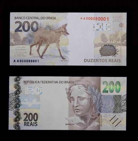 Nota de 200 reais, verso e frente, lançada pelo Banco Central  do Brasil, em começo de setembro de 2020. Imagem: Acervo UOL Economia - FOTO 18 -