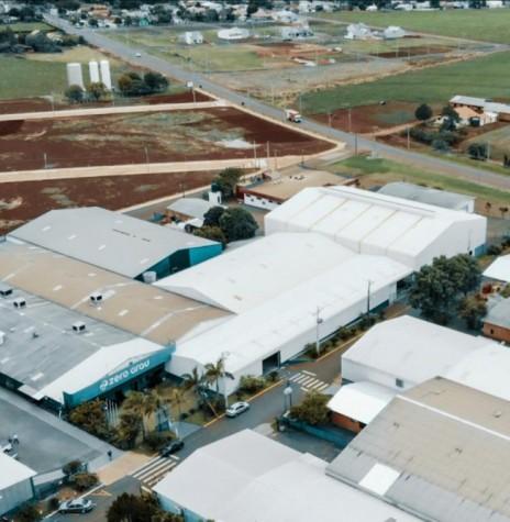 Vista aérea do parque industrial da