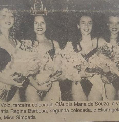 Destaque jornalístico referentes sobre as soberanas do Miss Marechal Cândido Rondon 1994. Imagem: Acervo Miriam Völz Wegner (Pato Bragado) - FOTO 15 -