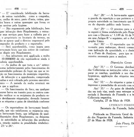 Página final do Decreto nº 718, do Governo do Paraná.  Imagem: Arquivo Público do Paraná - FOTO 4 -