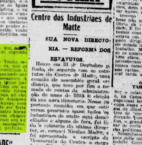 Publicação de Jorge Schimmelpfeng noticiando ao Governador a conclusão da implantação da estrada de Guiarapuava até Foz do Iguaçu.  Imagem: Acervo Biblioteca Nacional Digital - FOTO 3 -