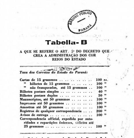 Página final da publicação da Lei nº 276/1898. Imagem: Acervo Arquivo Público do Paraná - FOTO 6 -