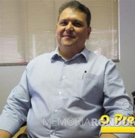 Anderson Wolff que assumiu a direção de Negócios do Sicoob Marechal , em abril de 2017. Imagem: Acervo O Presente - FOTO 5 -