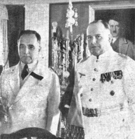 Presidente Getúlio Vargas em Visita a Embaixada da Alemanha no Rio de Janeiro em 1937.  Fonte: A elite carioca e os fatos mundanos no Rio de Janeiro: 1920-1945/ Página Estados Unidos do Brazil/ Facebook - FOTO 7 -