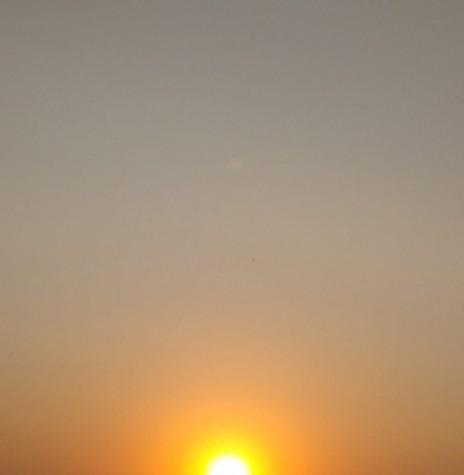 Por do sol na cidade de Marechal Cândido Rondon, em 17 de setembro de 2021. Imagem: Acervo e crédito da pioneira rondonense Ilda Bet - FOTO 10 -