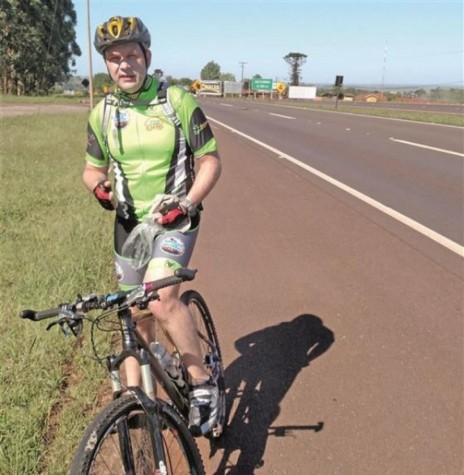 Ciclista Sérgio Mokfa primeiro rondonense a realizar num único um trajeto de 320 quilômetros num único dia. Imagem: Acervo do ciclista - FOTO 6 –