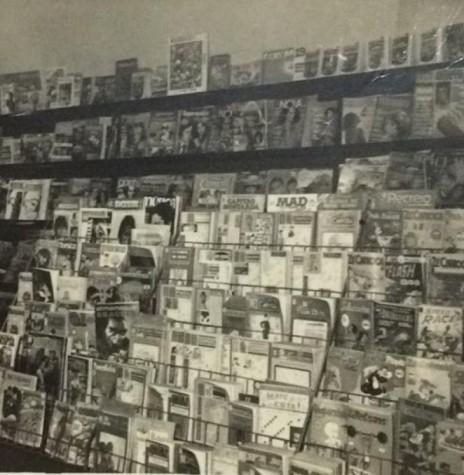 Vista da revistaria da Livraria Paraná, de propriedade dos pais do pioneiro Jorge Deusdite Sobreira Vasques.  Imagem - Acervo da família - FOTO 15 -