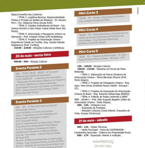 Estampa da agenda programática de eventos do III FEARB  - 2ª parte e final.  Imagem: Acervo Memória Rondonense - FOTO 3 -