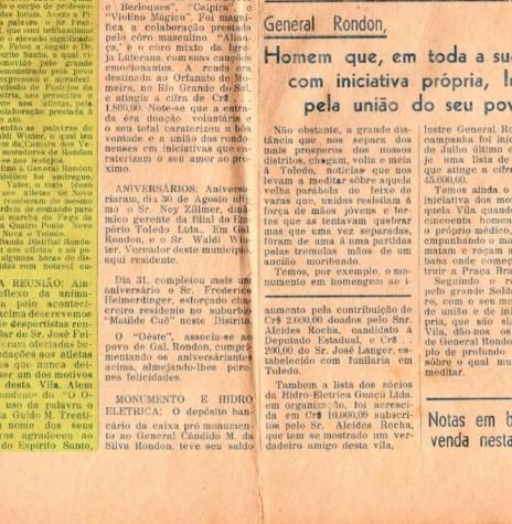 Parte inferior da página do então jornal