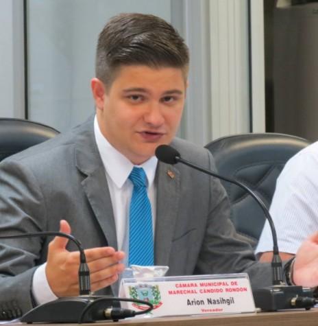 Vereador rondonense Arion Nasighil proponente do projeto de lei que impede a nomeação de pessoas para cargos em comissão, no âmbito dos poderes Legislativo, Executivo e autarquias locais, que não atendam a requisitos de
