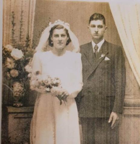 Casal pioneiro rondonense Terezinha Tonello e Henrique Belle que se casaram em abril de 1945, em Bento Gonçalves (RS).  Imagem: Acervo Vânia Bellé - FOTO 3 --