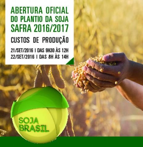 Cartaz convite para a abertura nacional do Plantio de Soja 2016/2017. Imagem: Acervo Embrapa - FOTO 7  _