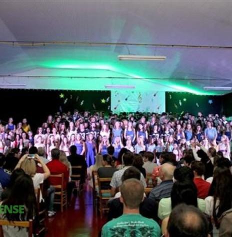 Gran finale do 6º Encoro - Encontro Nacional de Coros Juvenis - apresentação   de todos os corais participantes do evento. Imagem; Acervo O Presente - FOTO 2 -