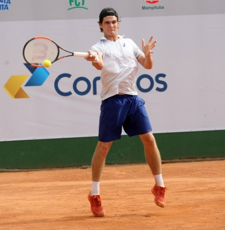 Tenista rondonense  Thiago Wild  que conquistou seu primeiro ponto na ATP, em Anatalya, na Turquia.  Imagem: Acervo DN Sul - FOTO 6 -