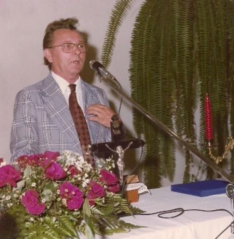 Pastor Jan Serfas, 3º pastor da Igreja Evangélica Congregacional de Marechal Cândido Rondon, nascido em 26 de setembro de 1926.  Imagem: Acervo Liane Serfas - FOTO 2 -