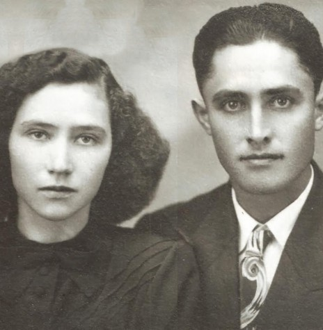 O casal pioneiro Paulina e Alfredo Nied, fundadores da primeira casa comercial em Marechal Cândido Rondon.  Imagem: Acervo Walmor Nied