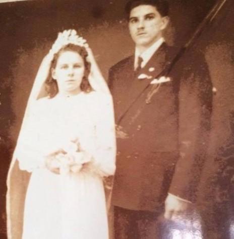 Casal pioneiro rondonense Izabela Jeziorni e Arthur Winter que se casaram em 03 de setembro de 1949.  Imagem: Acervo do casal - FOTO 2 -