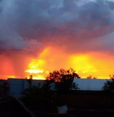 Difração da luz solar em agosto de 2018.  Imagem: Acervo Mirtes Raasch Huf - FOTO 10 -
