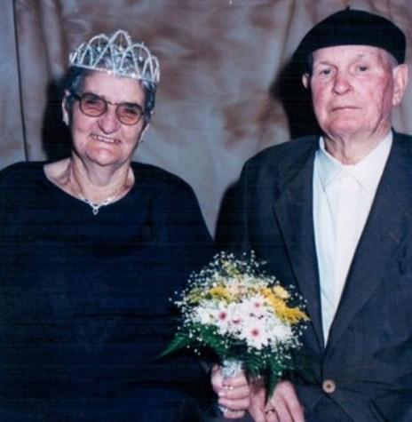 O casal pioneiro do distrito de Bom Jardim, Mathilde (Binsfeld) e Benno Lagemann, que comemoraram suas Bodas de Diamante (60) anos, em 20 de abril de 2000. Imagem: Acervo Claudete Lagemann – FOTO 4  -