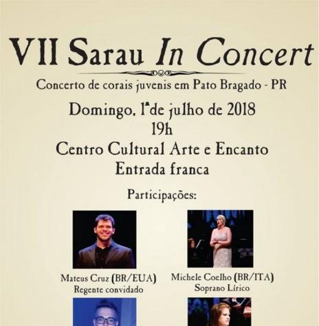 Cartaz-convite do 7º Sarau in Concert, de Pato Bragado.  Imagem: Imprensa PM-PR - FOTO 7 -