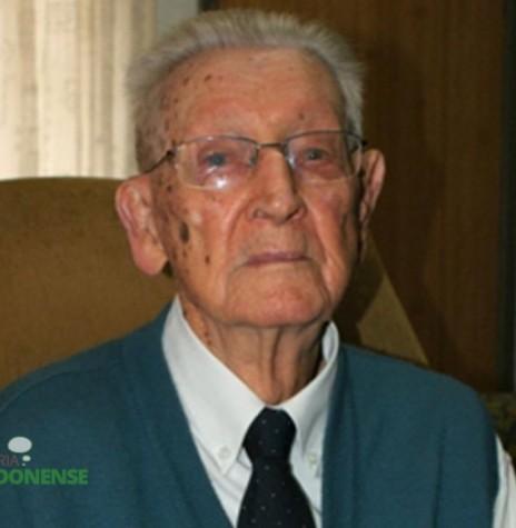 Pastor Guilherme Lüdke  no dia do seu 104 º aniversário, falecido em agosto de 2013.   Imagem: Acervo O Presente - FOTO 4 –