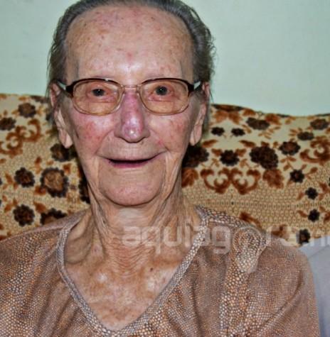 Pioneira rondonense Frida Albertina Hinkel que completou 100 anos, em 20 de maio de 2019.  Imagem: Acervo AquiAgora.net -  FOTO 18 -