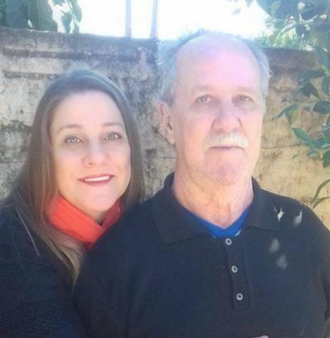 Atílio Pedro Corte (Pussuca) com a filha Andiara.  Imagem: Acervo pessoal - FOTO 11 -