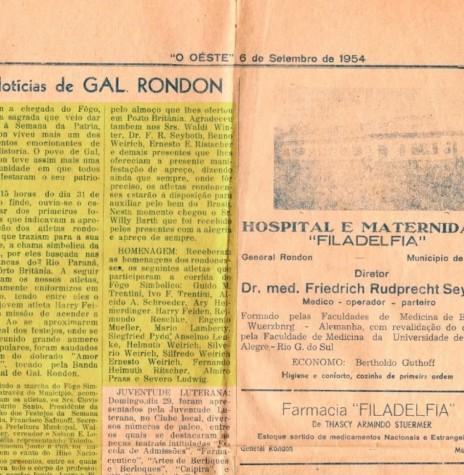 Matéria publicada pelo então jornal