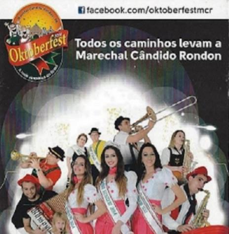 Convite para a 26ª Oktoberfest de Marechal Cândido Rondon. Imagem: Facebook - FOTO 5 -